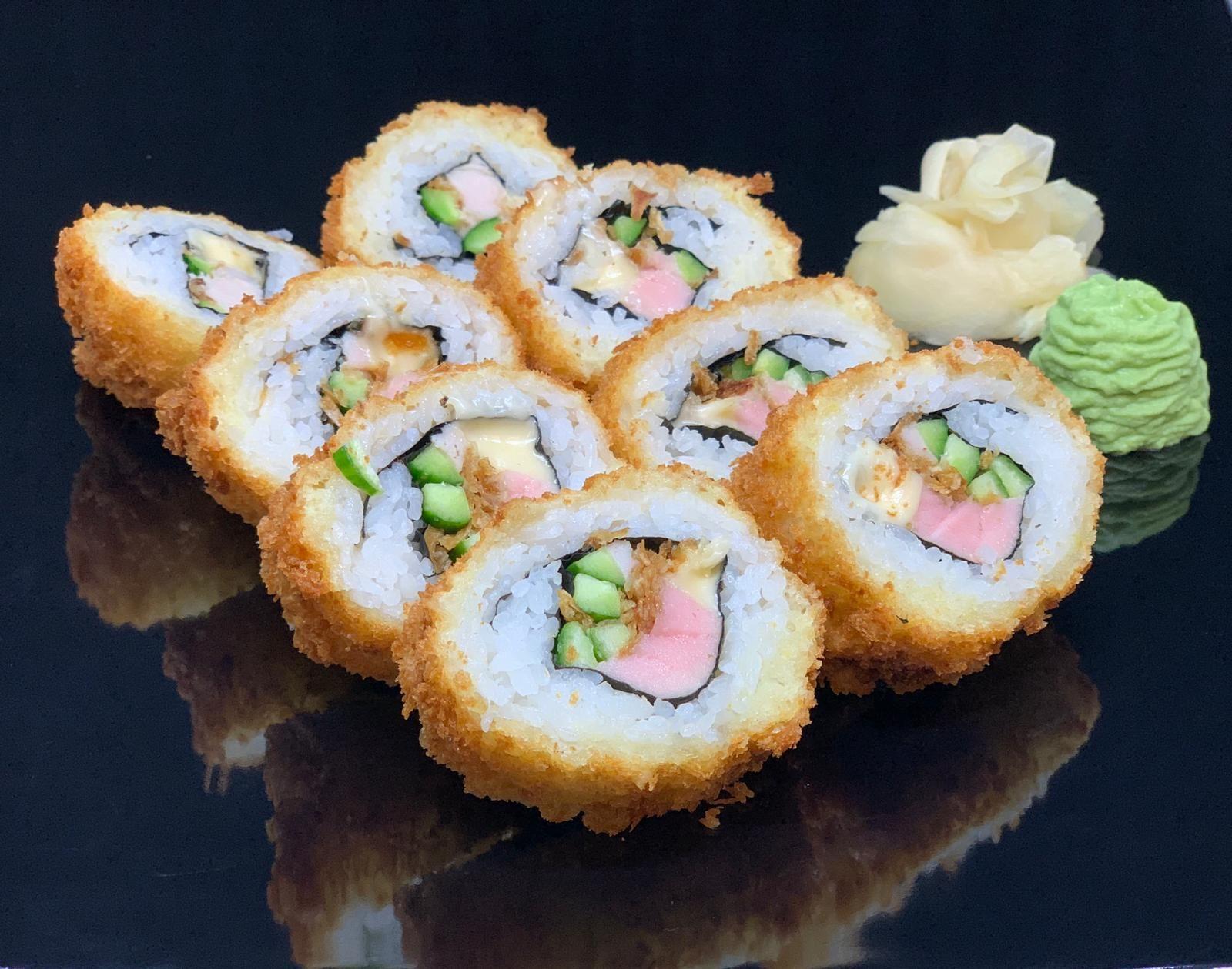 Fried crispy roll with tuna